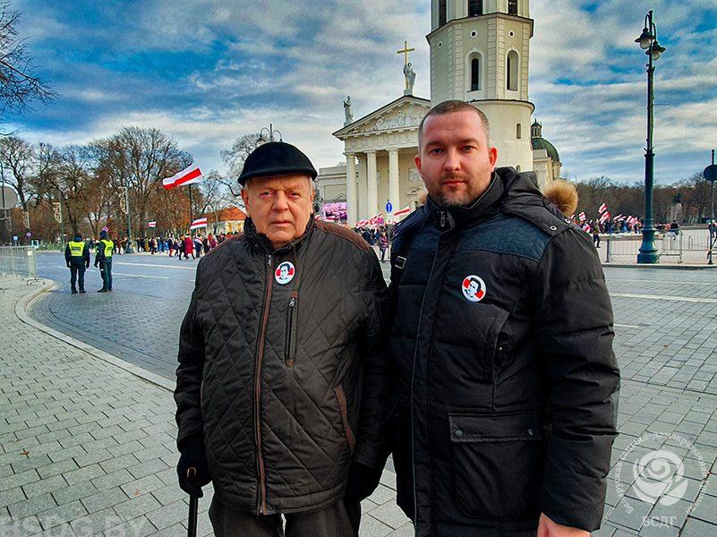 В Вильнюсе церемонию перезахоронения Кастуся Калиновского посетили Сергей Черечень и Станислав Шушкевич